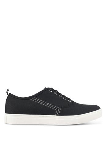 JAXON black Canvas Casual Sneakers A20DBSH0853C20GS_1