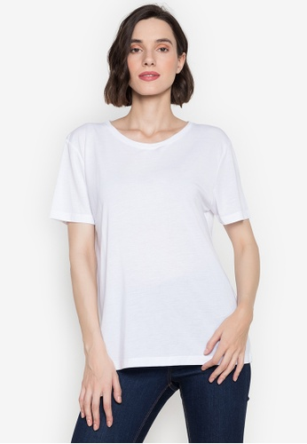 MARKS & SPENCER white Relaxed Fit T-Shirt 0D50EAAEF44801GS_1