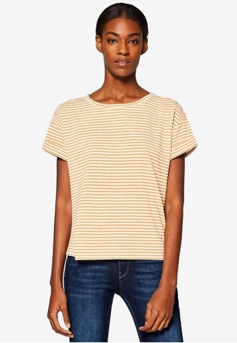ESPRIT white Short Sleeve T-Shirt 2FEBDAAB88FAE5GS_1
