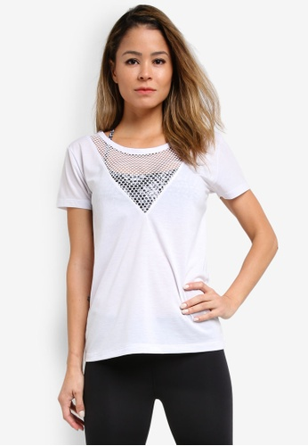 Lorna Jane white Mind Game Active Short Sleeve Top LO143AA27WEAMY_1
