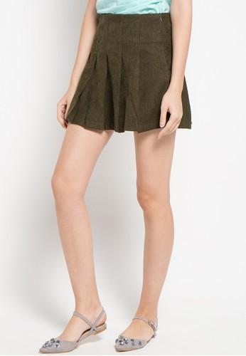 Raspberry green Nila Ruflle Skirt RA572AA21ZPMID_1