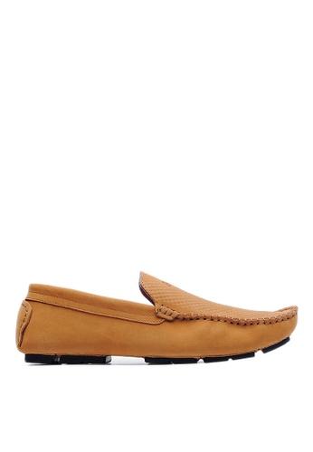 Life8 brown Nubuck Embossing Driver Shoes-09128-Brown LI286SH24USTMY_1