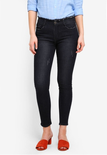 Something Borrowed black Cropped Skinny Fit Jeans D9B27AA916E3DFGS_1