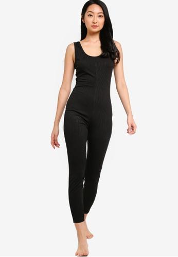 ZALORA BASICS 黑色 Lounge Unitard 連身短褲 F0D4DAA0652A0EGS_1
