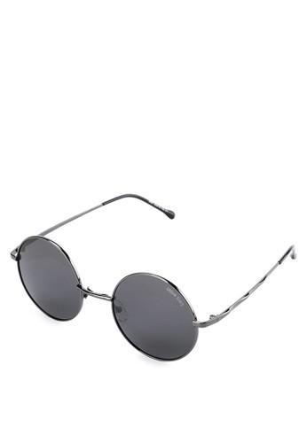 Urban State black Polarized Metal Monocle Round Sunglasses 3584DGLD59798DGS_1