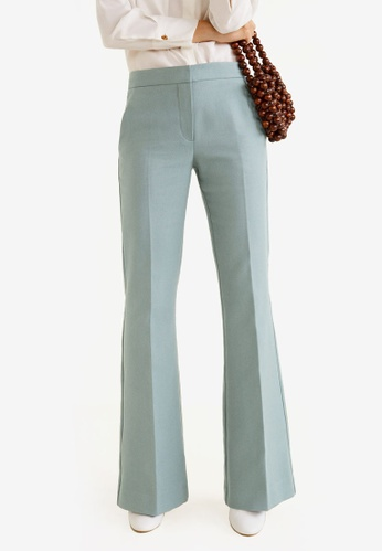 Mango blue High-Waist Palazzo Trousers 87D1FAA9743B52GS_1