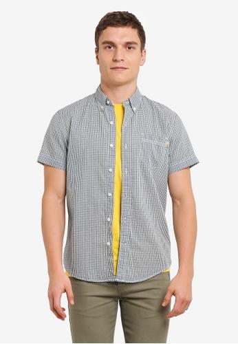 Timberland blue Short Sleeve Mount McKinley Shirt TI063AA0SB8MMY_1