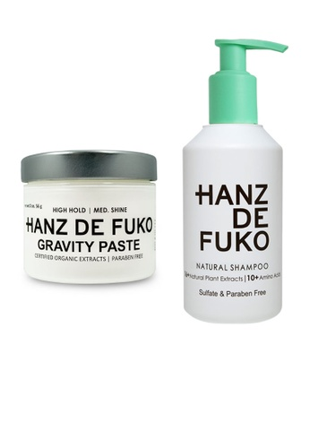 Hanz de Fuko Hanz de Fuko Natural Shampoo and Gravity Paste Set HA369BE12OKLSG_1