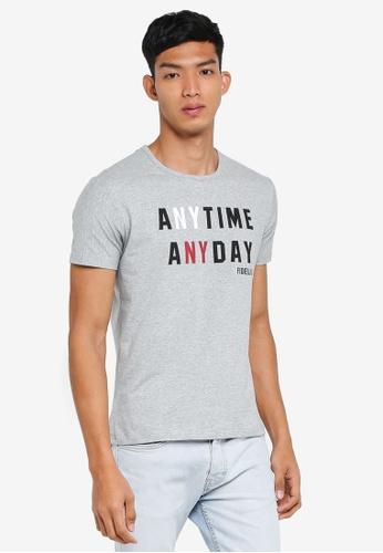 Fidelio 灰色 短袖印花T恤 A7D34AAA78C33BGS_1