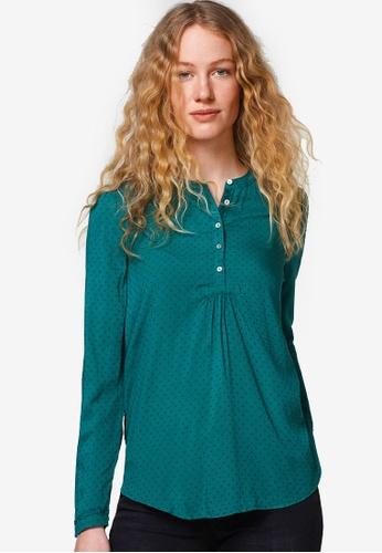 ESPRIT green Woven Long Sleeve Blouse ES374AA0T144MY_1