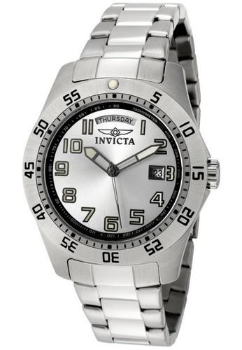 INVICTA silver Invicta Specialty Men 44mm Case Silver Stainless Steel Strap Silver Dial Quartz Watch 5249 w/ Yellow Impact Case IN968AC0GO1DSG_1