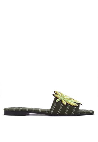 DSNY FOOTWEAR SHOP green Gardena Satin Slides FBDB6SH8CE016BGS_1