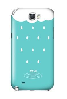 Rain Cloud Matte Hard Case for Samsung Galaxy Note 2