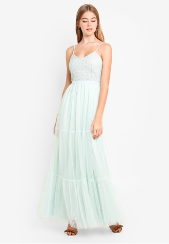 Little Mistress green Mint Maxi Dress 52BFBAAB517EF9GS_1