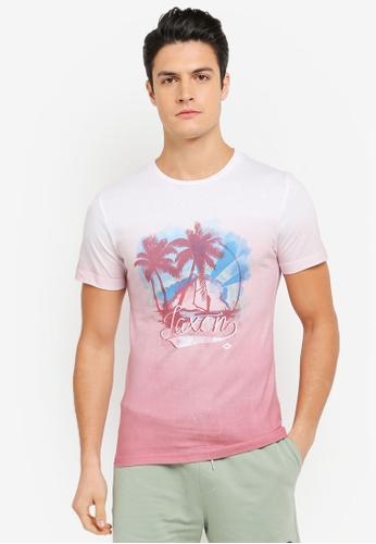 JAXON pink and multi Aloha Tee EE03AAAD08DB98GS_1