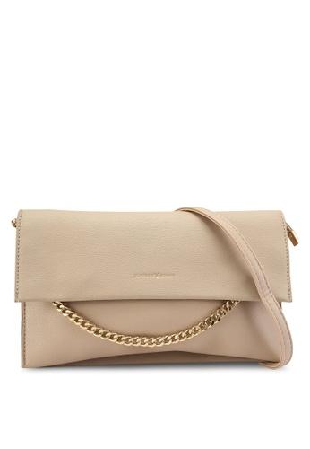PLAYBOY BUNNY brown Faux Leather Envelope Clutch Bag B246EAC4D6C451GS_1