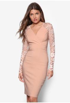 Back Cut-out Lace Midi Dress