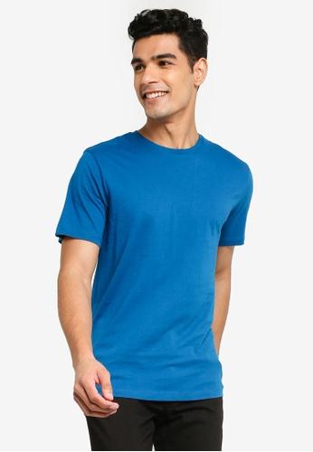 Topman blue Blue Crew Tee E9940AA7508937GS_1