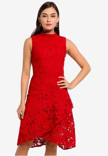 CHI CHI LONDON red Petite Malin Dress 8A0C0AA126CC94GS_1