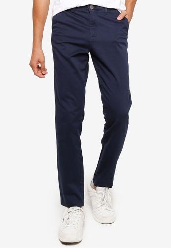 Jack & Jones navy Slim Chino Pants 18A0CAA8DC69BEGS_1