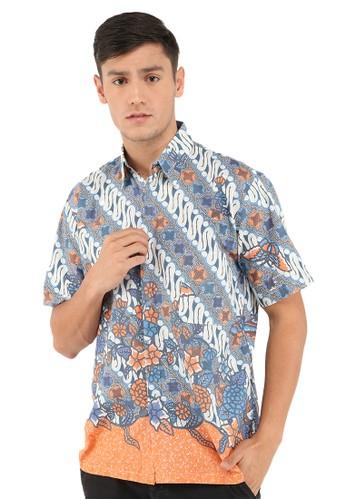 Jening Batik blue Jening Batik Short Sleeve JNGBT017 Blue D6DA0AA145C185GS_1