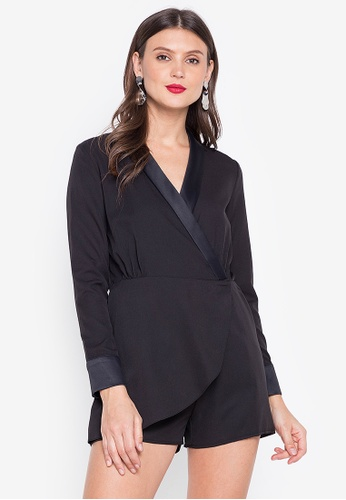 R.A.F. by Plains & Prints black Stent Playsuit 6181DAA43D2F40GS_1