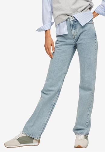 Mango blue Straight-Fit Cotton Jeans 7A5ECAA58325B8GS_1