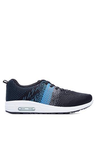 Life8 blue Air Cushion Weaving Sport Shoes-09511-Black/Blue LI286SH0RI7BMY_1