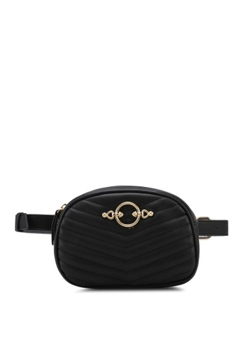 TOPSHOP black Queenie Quilted Bumbag 8EBCDAC205CC22GS_1