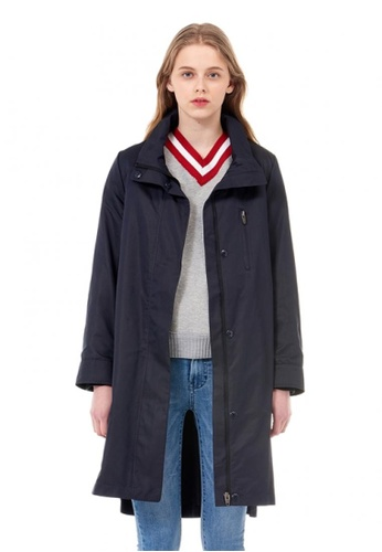 VOV(Voice of Voices) navy Belted Jacket With Hidden-Closure E377FAAA3612A5GS_1