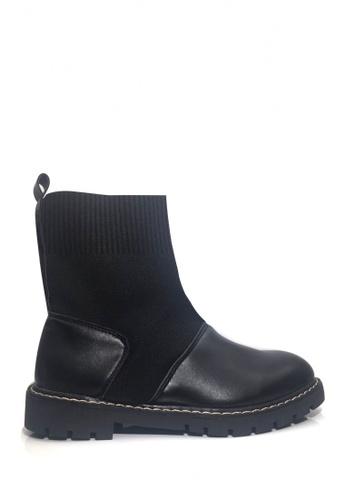 Twenty Eight Shoes black Socking Military boots VB117 048EASHBCBA06BGS_1