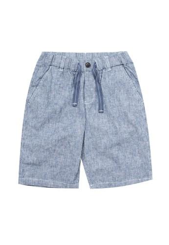 Giordano navy Junior Linen Cotton Short FA550KA24CA94EGS_1