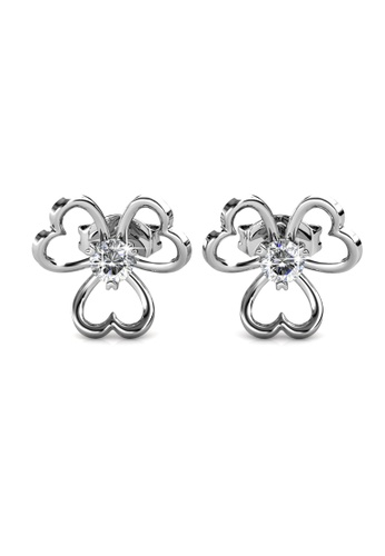 Her Jewellery silver Tri Love Earrings -  Made with premium grade crystals from Austria HE210AC0GRCKSG_1