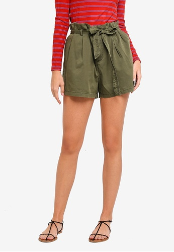 Vero Moda green Vega Loose Shorts F274AAAED9013FGS_1