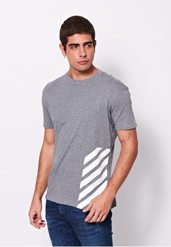 Sisley grey Printed T-shirt 4E14CAA9D8FC7EGS_1