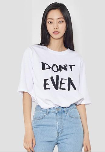 『甚至不要』標語TEesprit salon hkE, 服飾, 上衣