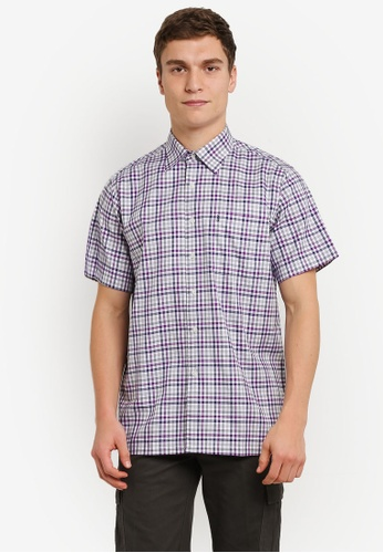 BGM POLO 多色 Checkered 短袖襯衫 BG646AA0S0KRMY_1