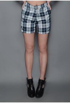 CollabMNL's Tartan High Waist Shorts