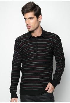Multi Stripe Henley T-shirt