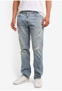 harga Light Ripped Jeans Zalora.co.id