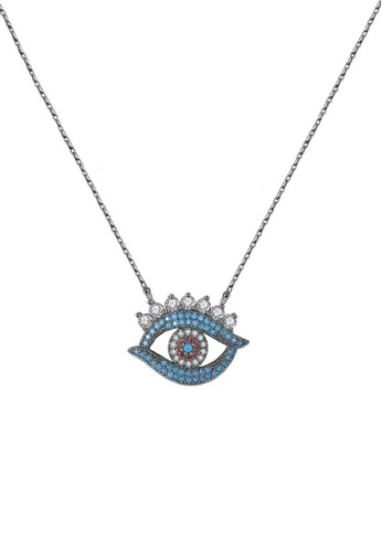 ADORA multi Devil's Eye Cubic Zirconia Pendent Necklace 05715AC48C2EB6GS_1