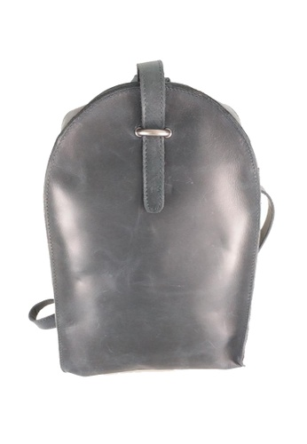 IXACC blue and navy Compact Leather Backpack IX982AC54QZHPH_1