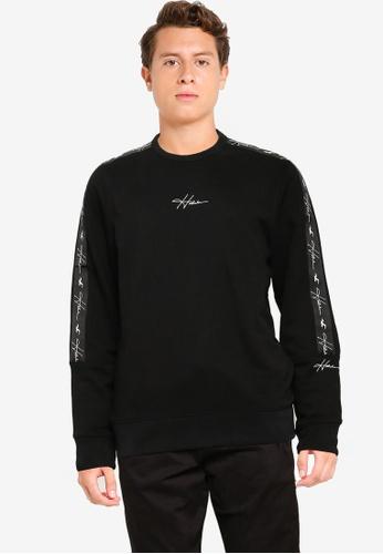 Hollister black Emea Tape Crew Sweatshirt EB0A6AAA8E07B8GS_1