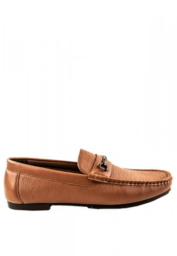 Otto brown Horse Bit Loafers 33579SH7BA8E29GS_1