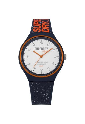 Superdry black and white Superdry SYG227U Men's Watch DE53AACF8FC3C7GS_1