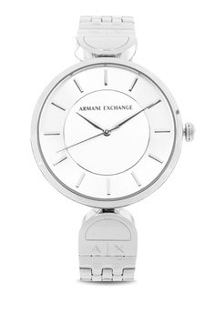 babcb79cce1c Armani Exchange silver Brooke Analog Watch Ax5327 5FB58AC3DB935DGS 1