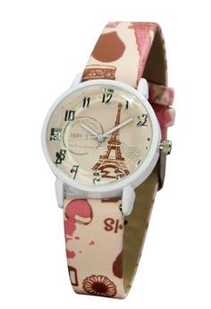 FHL La Tour Eiffel 1889 Women's Leather Strap Watch F-603