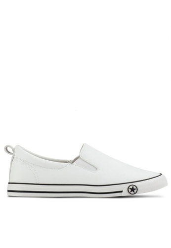 Twenty Eight Shoes white Basic Slip-Ons With Star 16396 97431SH1C4A941GS_1