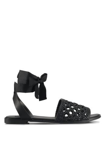 ZALORA black Braided Sandals 871FESH7878B5FGS_1