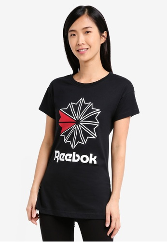 Reebok black Foundation GR Tee RE691AA0SX59MY_1